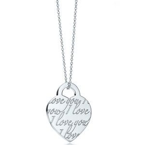 Tiffany & Co I Love You Necklace